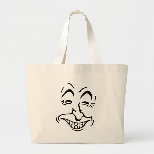 Laughing Face Caricature Canvas Bags
