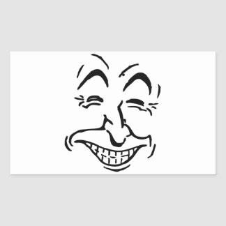 Laughing Face Caricature Sticker