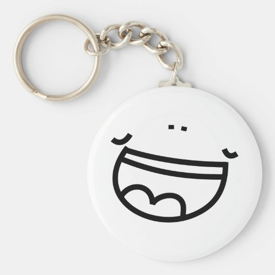Laughing Face Key Ring