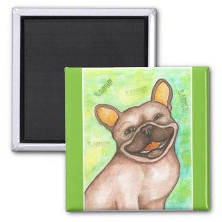 Laughing French Bulldog magnet