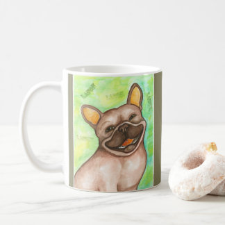 Laughing French Bulldog mug