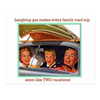 Laughing Gas Postcard