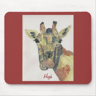 Laughing Giraffe Mouse Pad