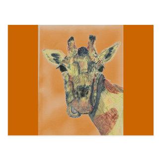 Laughing Giraffe Postcard