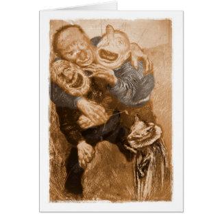Laughing Grandfather Trolls Greeting Card