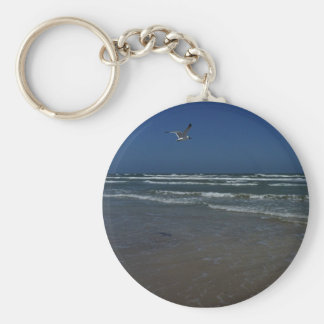 Laughing Gull Basic Round Button Key Ring