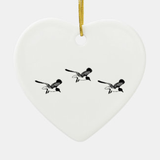 Laughing Gulls Flying Christmas Ornament