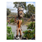 Laughing Hawaiian Ki'i Sculpture Postcard