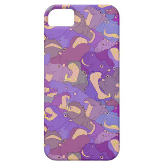 Laughing Hippos - purple Case For The iPhone 5