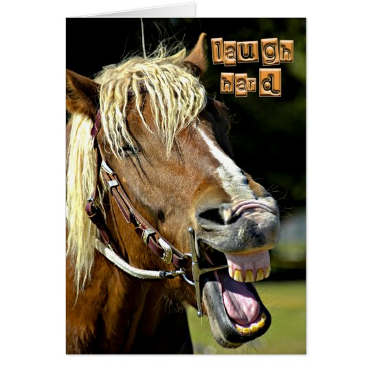 Laughing Horse Note Card