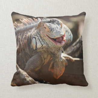 Laughing Iguana Photo Cushion