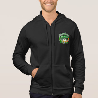 Laughing Irish Leprechaun Skulls: Shenanigans Hoodie