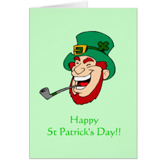 Laughing Leprechaun St Patrick's Day Card