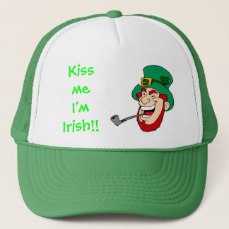 Laughing Leprechaun St Patrick's Day Trucker Hat