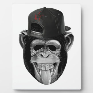 Laughing Monkey Plaque