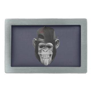 Laughing Monkey Rectangular Belt Buckle