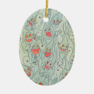 Laughing Nomes of Oz Ceramic Oval Decoration
