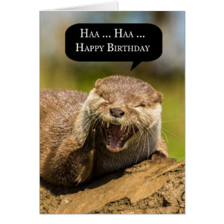 laughing otter birthday greeting card funny