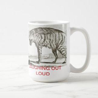 """""""LAUGHING OUT LOUD"""" Hyenna - Large Mug"""