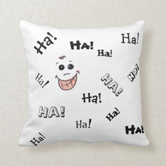 Laughing out loud! throw pillow