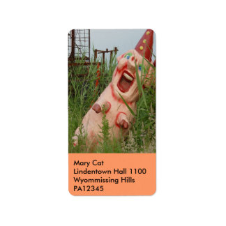 Laughing Pig Label
