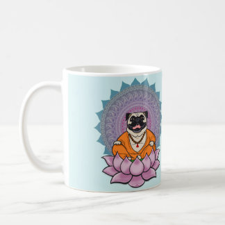 Laughing Pug Mandala Mug