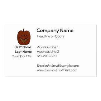 Laughing Pumpkin Cartoon. Dark Colors. Business Card