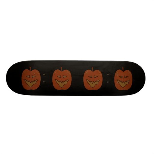 Laughing Pumpkin Cartoon. Dark Colours. 20.6 Cm Skateboard Deck