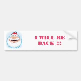 LAUGHING SANTA CLAUS BUMPER STICKER