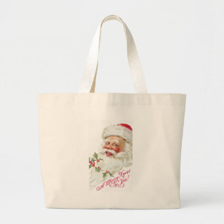 Laughing Santa Claus Vintage 1912 Xmas Jumbo Tote Bag