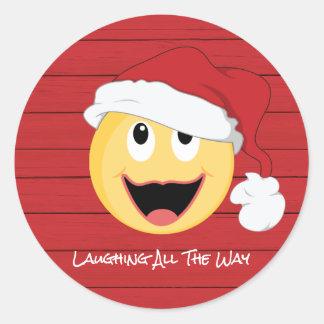 Laughing Santa Imoge Sticker
