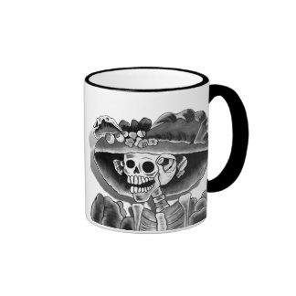 Laughing Skeleton Woman Coffee Mugs