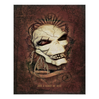 Laughing Skull Gothic Fantasy Art Personalized Poster