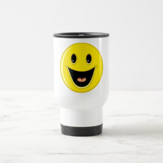 Laughing Smiley Face Stainless Steel Travel Mug