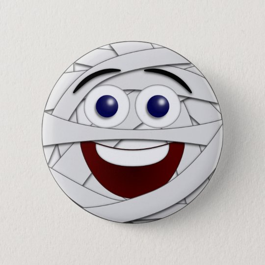 Laughing Smiley Mummy 6 Cm Round Badge