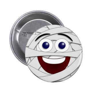 Laughing Smiley Mummy 6 Cm Round Badge