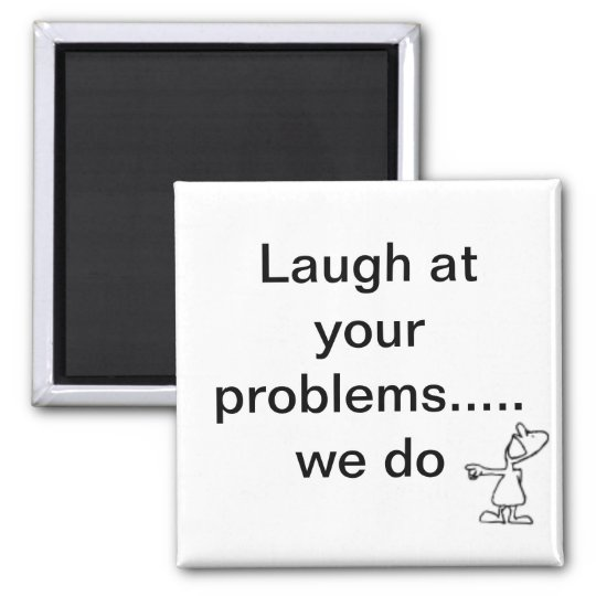 laughing square magnet