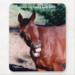 Laughing Standardbred Horse Mousepad