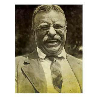 Laughing Theodore Roosevelt Postcard