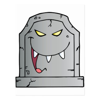 Laughing Tombstone Cartoon Character Postcard