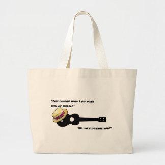 Laughing Ukulele Tote Bag