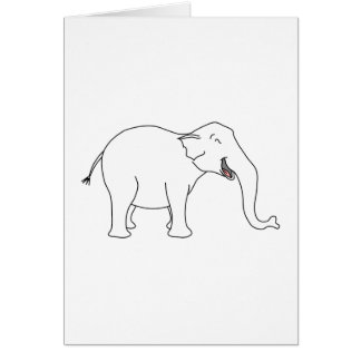 Laughing White Elephant. Card