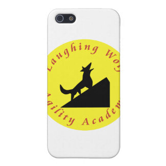 laughing wolf in moon iPhone 5 cover