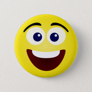 Laughing Yellow Smiley Face 6 Cm Round Badge