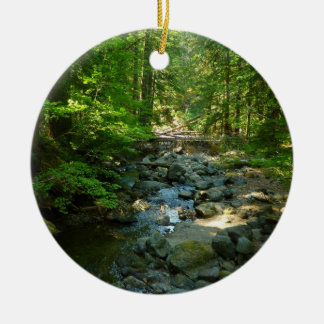 Laughingwater Creek at Mount Rainier National Park Round Ceramic Decoration