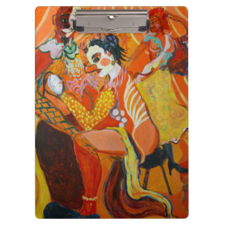 Laughter Fine Art Clown Painting Clipboards