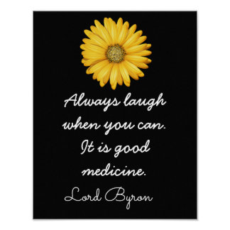 Laughter Good Medicine -- _ Art Print_ Poster