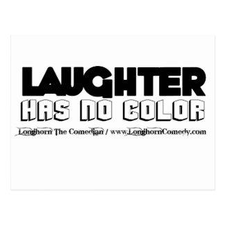 Laughter Has No Color Merchandise Postcard