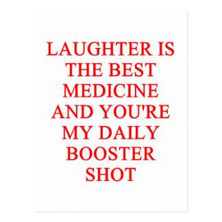 laughter i the best medicine postcard