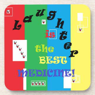 Laughter is the Best Medicine Beverage Coasters
